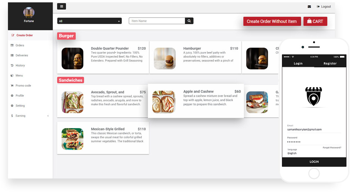 restaurant order management system