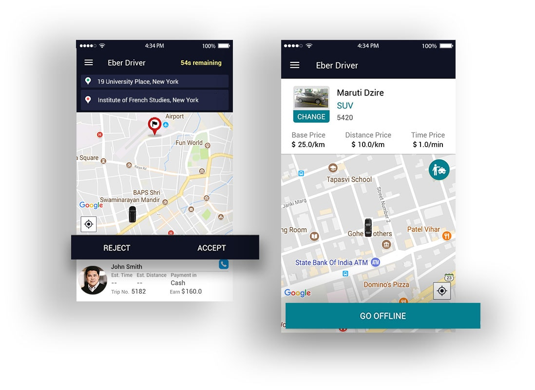 Taxi Booking Software With Android and iOS Mobile Apps